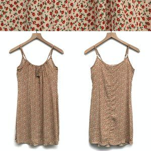 Brandy Melville Yellow & Red Floral Dress - OS